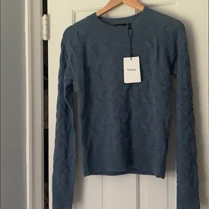 NWT new theory cashmere blue small sweater